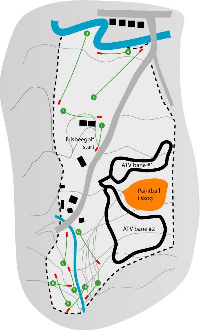 alnaparken kart Frisbeegolfbaner i Norge alnaparken kart